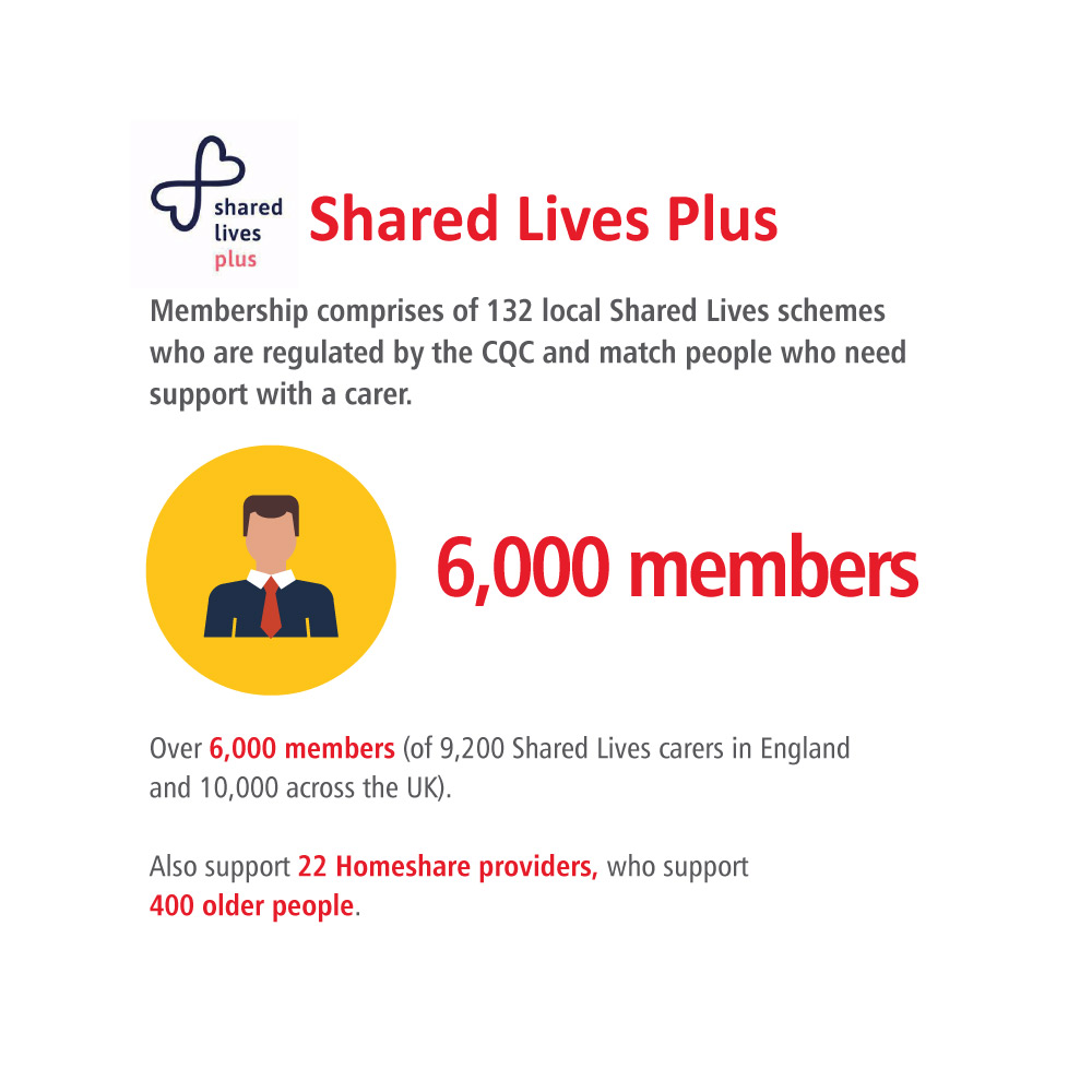 infographic of the key stats on the CPA member page for Shared Lives Plus